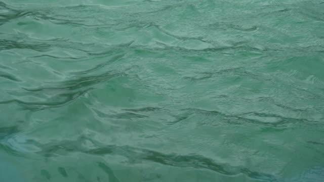 ripple sulla superficie dell'acqua - piscina pubblica all'aperto video stock e b–roll
