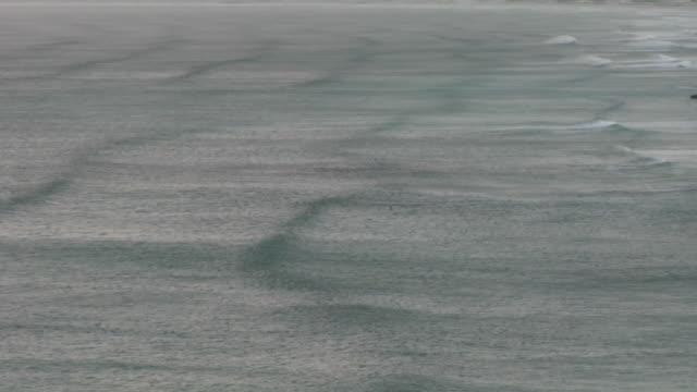vídeos de stock e filmes b-roll de ws, ha, rippled ocean surface, de kelders, south africa - movimento perpétuo