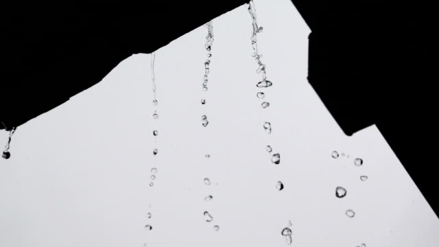 rippled rain drops in super slow motion - splashing droplet stock videos & royalty-free footage