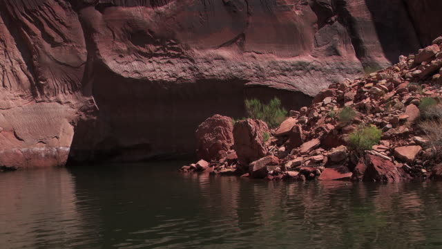 ripples cover a river in a canyon in nevada. - black canyon stock videos & royalty-free footage