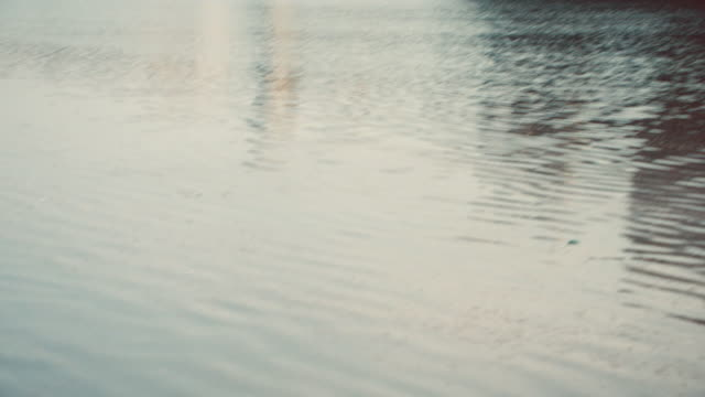 tu rippling water surrounding pembroke castle / pembroke, wales, united kingdom - 堀点の映像素材/bロール