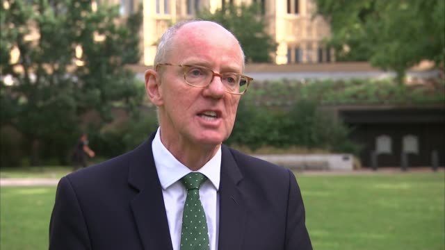 rise in gcse passes but btec results are delayed by exam board; england: london: westminster: ext nick gibb mp interview sot - 一般教育証明試験点の映像素材/bロール