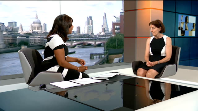 rise in hiv infection amongst gay men; england: london: gir: int dr yvonme doyle live studio interview sot - retrovirus video stock e b–roll