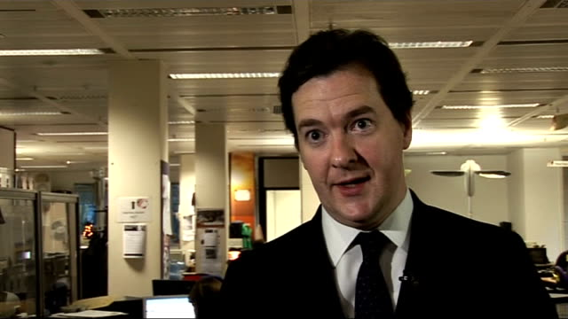 interview with Chancellor George Osborne ENGLAND London INT George Osborne MP interview SOT The VAT rise is a tough but necessary step if you don't...