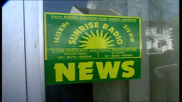 rise of new independent radio stations / ella fitzgerald press conference; ext; gv's sunrise radio: london: itn radio: int itn radio studio; tape... - ella fitzgerald stock videos & royalty-free footage