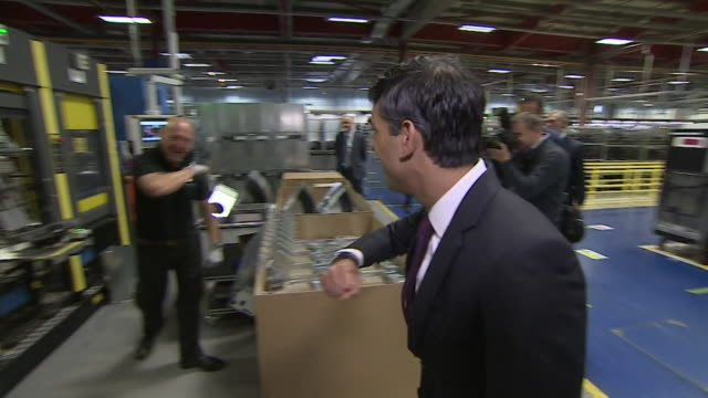 rishi sunak chancellor of the exchequer visits boiler maker factory in west midlands during coronavirus pandemic as business gets back to work - craftsperson stock videos & royalty-free footage