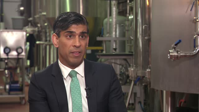 rishi sunak interview; england: london: walthamstow: int rishi sunak mp interview sot. - on gdp figures / whether restrictions will lift on 21st june... - financial bill stock videos & royalty-free footage