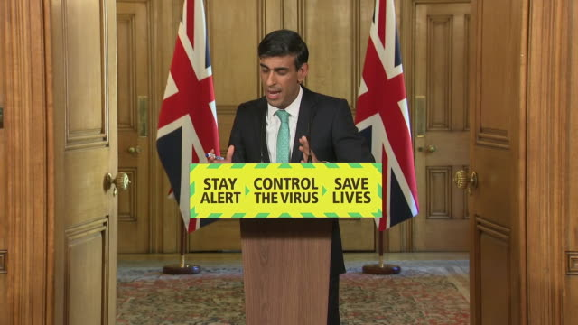 rishi sunak saying 8 months is a long time to have the support in regards to the government's furloughing scheme - real time stock videos & royalty-free footage
