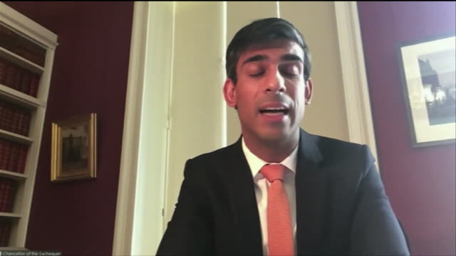 """rishi sunak saying the coronavirus lockdown will likely mean a severe recession the likes of which have never been seen - """"bbc news"""" stock videos & royalty-free footage"""