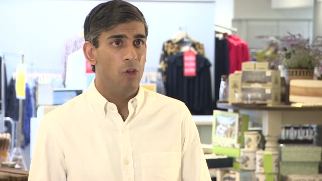 """stockvideo's en b-roll-footage met rishi sunak saying the outcome of the review into coronavirus social distancing measures """"will be announced this week"""" - aankondigingsbericht"""