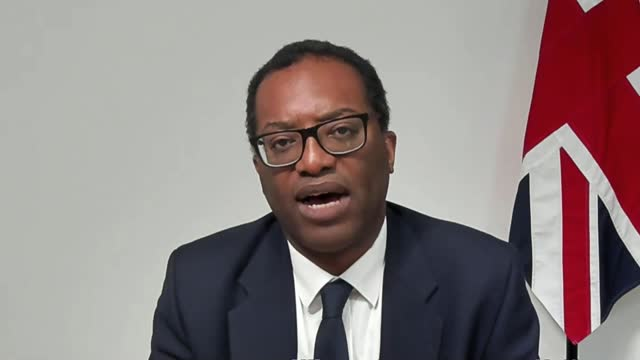 rishi sunak signals the the budget will extend the furlough scheme but that taxes will have to rise; england: london: westminster: int kwasi kwarteng... - financial bill stock videos & royalty-free footage