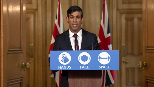 rishi sunak 'winter economy plan' press conference; ** 1 of 8 ** england: london: westminster: 10 downing street: int rishi sunak mp press conference... - financial bill stock videos & royalty-free footage