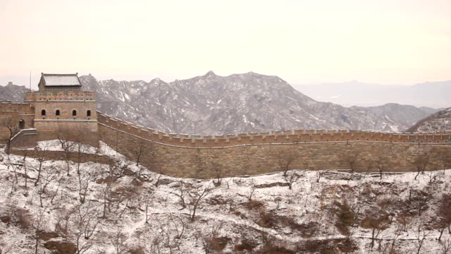 rising above great wall of china - badaling stock videos and b-roll footage