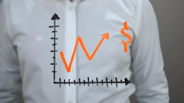 vídeos y material grabado en eventos de stock de levantamiento gráfico '' dólares '' - ganar dinero