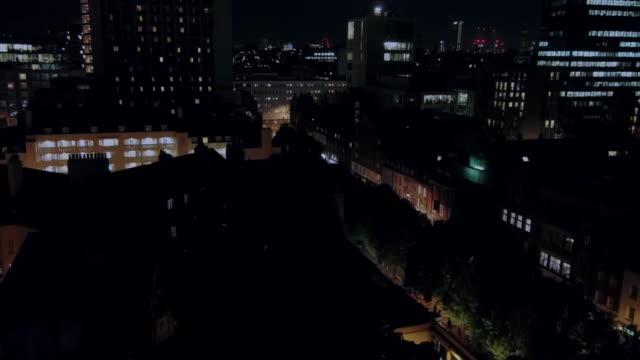 rising drone shot revealing the london skyline - twilight stock videos & royalty-free footage
