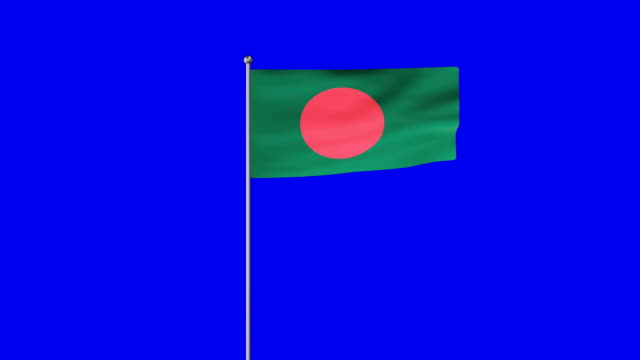 rising flag of bangladesh - flag of bangladesh stock videos & royalty-free footage
