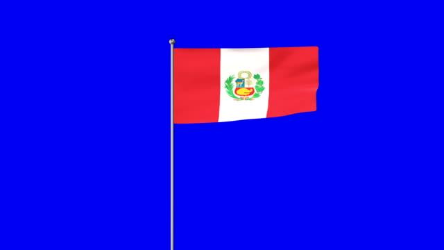 ペルーの立ち上がり旗 - 地理的地域 国点の映像素材/bロール