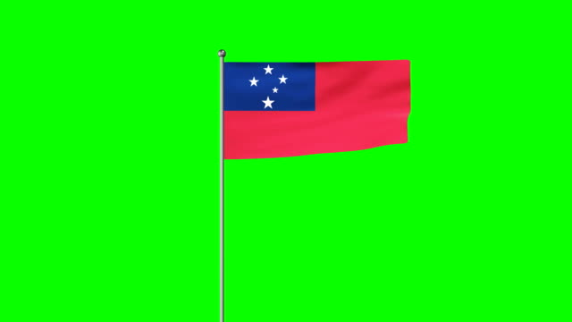 rising flag of samoa - intricacy stock videos & royalty-free footage