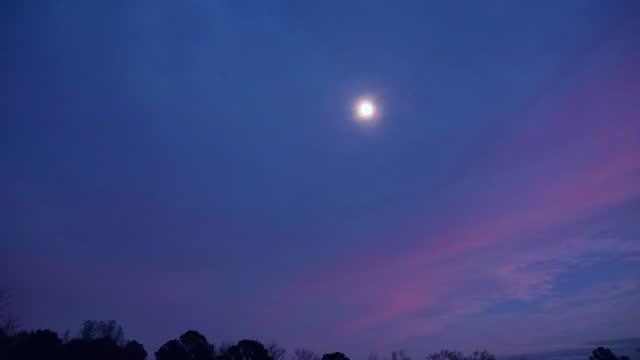 rising moon and mars in piedmont, north carolina, time lapse - rymd och astronomi bildbanksvideor och videomaterial från bakom kulisserna