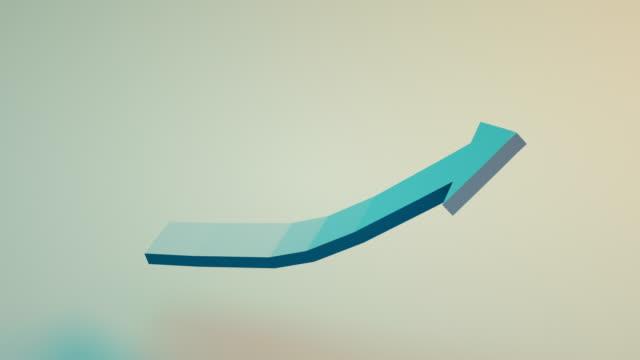 rising up arrow, chart growth - arrow symbol stock videos & royalty-free footage