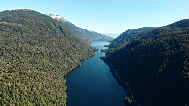 チリ・パタゴニアのリソパトロン湖 - 南点の映像素材/bロール
