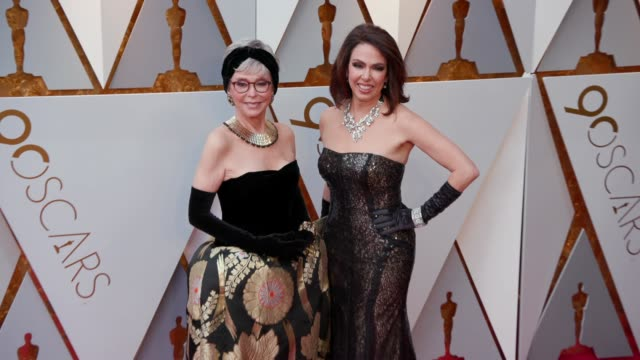 rita moreno and fernanda luisa gordon at the 90th academy awards arrivals at dolby theatre on march 04 2018 in hollywood california - 90th annual academy awards stock videos & royalty-free footage