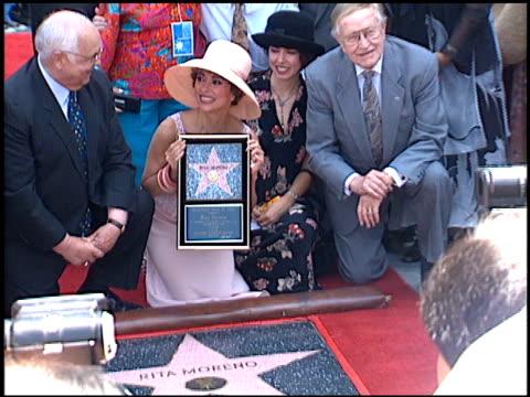 rita moreno at the dediction of rita moreno's walk of fame star at the hollywood walk of fame in hollywood, california on july 20, 1995. - walk of fame stock videos & royalty-free footage