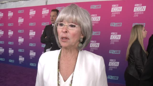 interview rita moreno on what brings her out why norman lear is so deserving of the honor and what makes an icon at tv land icon awards arrivals in... - tv land awards stock videos and b-roll footage