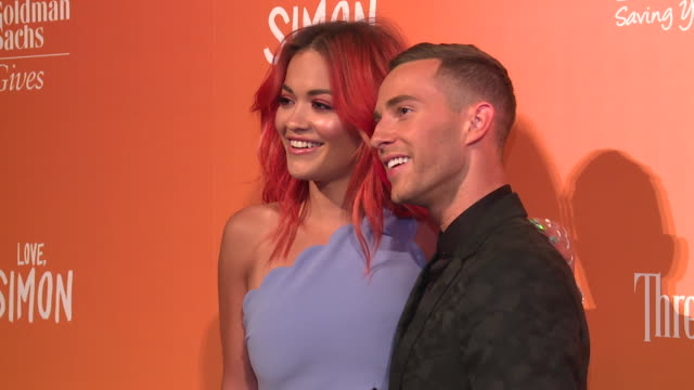 Rita Ora and Adam Rippon at The Trevor Project TrevorLIVE NY 2018 at Cipriani Wall Street on June 11 2018 in New York City