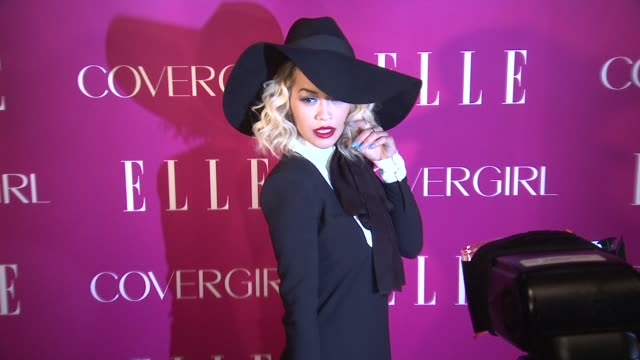 rita ora at 4th annual elle women in music celebration arrivals at the edison ballroom on april 10 2013 in new york new york - edison ballroom stock videos & royalty-free footage