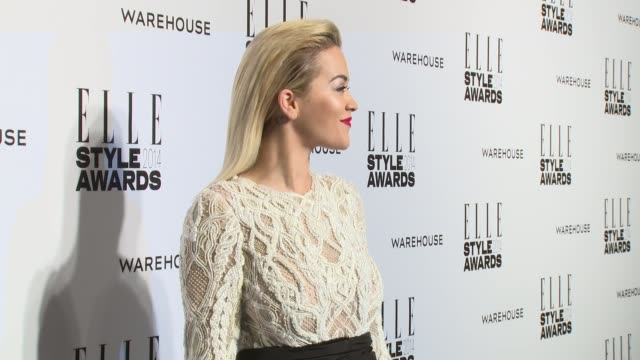 rita ora at elle style awards arrivals at one embankment on february 18 2014 in london england - embankment stock videos and b-roll footage