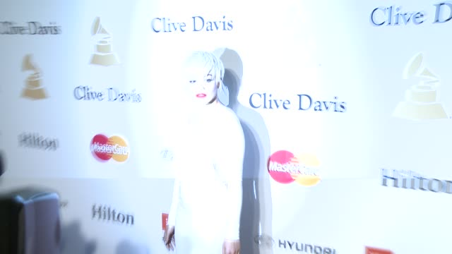 rita ora at the pregrammy gala and salute to industry icons honoring martin bandier at the beverly hilton hotel on february 07 2015 in beverly hills... - the beverly hilton hotel stock videos & royalty-free footage