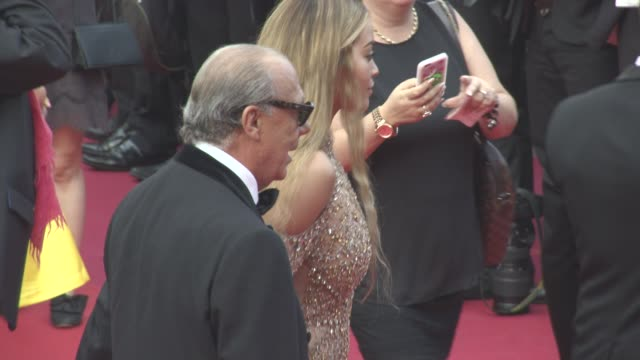 rita ora fawaz gruosi at cannes film festival 70th celebration red carpet at palais des festivals on may 23 2017 in cannes france - cannes video stock e b–roll