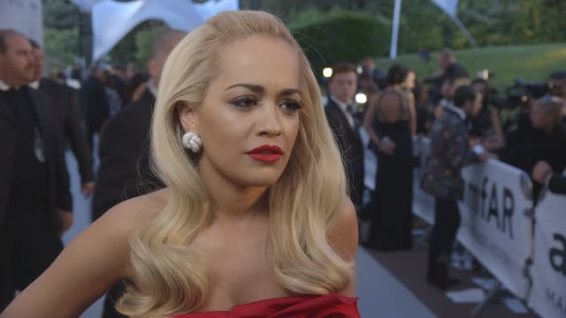 INTERVIEW Rita Ora on being happy she made it to the event traffic supporting the event the auction Cannes Film Festival at amFAR 22nd Cinema Against...