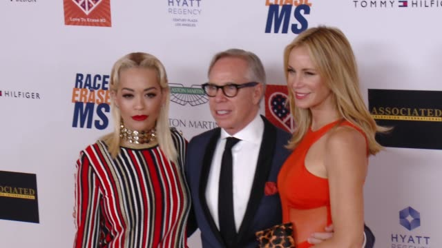 rita ora tommy hilfiger at the 22nd annual race to erase ms in los angeles ca - race to erase ms stock videos and b-roll footage