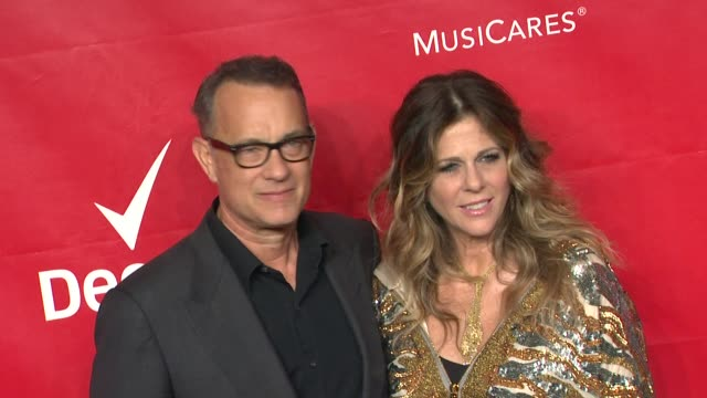 Rita Wilson and Tom Hanks at 2014 MusiCares Person of The Year Honoring Carole King at Los Angeles Convention Center on in Los Angeles California