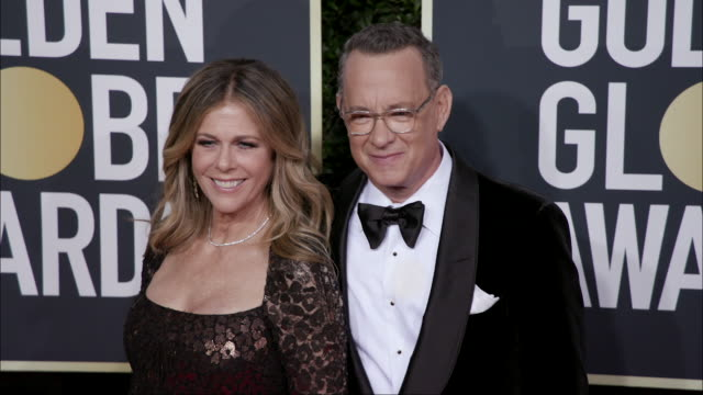 vídeos de stock e filmes b-roll de rita wilson and tom hanks at the 77th annual golden globe awards at the beverly hilton hotel on january 05, 2020 in beverly hills, california. - the beverly hilton hotel