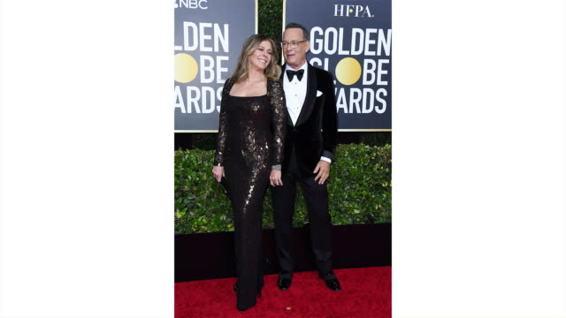 rita wilson and tom hanks attends the 77th annual golden globe awards at the beverly hilton hotel on january 05, 2020 in beverly hills, california. - golden globe awards stock videos & royalty-free footage