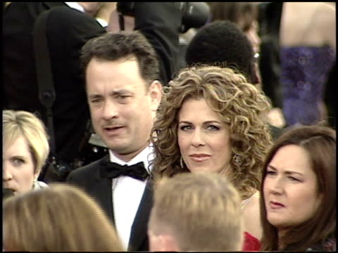 rita wilson at the 2001 academy awards at the shrine auditorium in los angeles california on march 25 2001 - 73rd annual academy awards stock videos & royalty-free footage