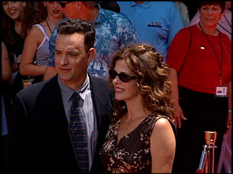rita wilson at the dedication of tom hanks' footprints at grauman's chinese theatre in hollywood california on july 23 1998 - tom hanks stock videos & royalty-free footage