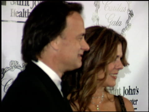rita wilson at the st john's caritas gala at the regent beverly wilshire hotel in beverly hills, california on october 15, 2005. - regent beverly wilshire hotel stock videos & royalty-free footage