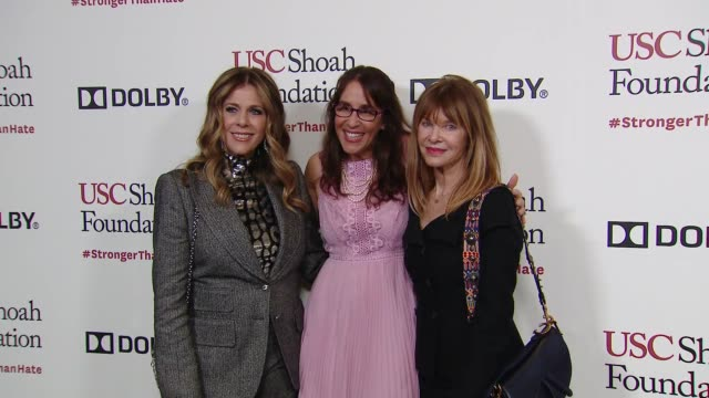 rita wilson kate capshaw ivy schamis at kate capshaw steven spielberg and usc shoah foundation honor rita wilson tom hanks at ambassadors for... - martin short stock videos & royalty-free footage