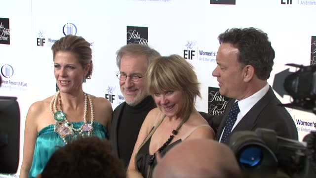 Rita Wilson Kate Capshaw Steven Spielberg Tom Hanks at the Saks Fifth Avenue's 'An Unforgettable Evening' at Los Angeles CA
