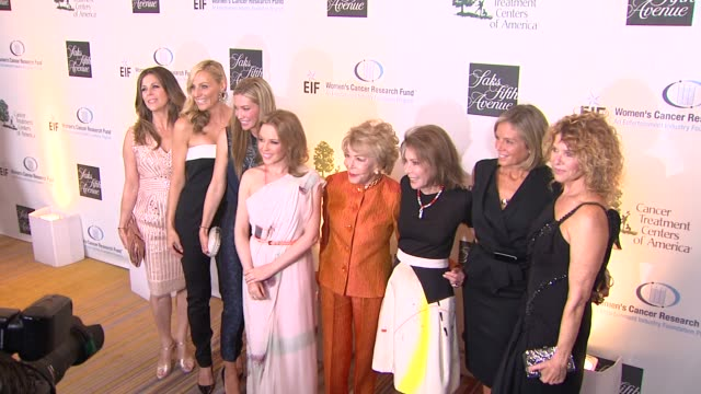 Rita Wilson Kelly Meyer Jamie Tisch Quinn Ezralow Anne Douglas Marion Laurie Kate Capshaw at EIF Women's Cancer Research Fund's 16th Annual An...