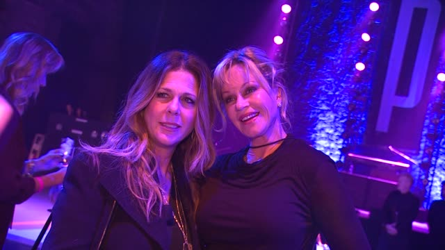 rita wilson melanie griffith at st john's health center's power of pink benefiting the margie petersen breast center on 11/12/12 in santa monica ca - melanie griffith stock videos and b-roll footage