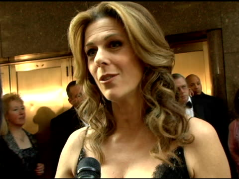 rita wilson on coming to broadway, presenting the award for best revival and the mysterious whereabouts of her husband at the 60th annual tony awards... - radio city music hall stock-videos und b-roll-filmmaterial