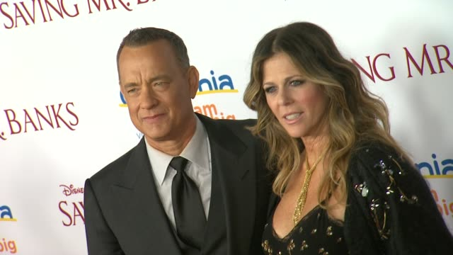 Rita Wilson Tom Hanks at Saving Mr Banks Los Angeles Premiere in Burbank CA on 12/9/2013