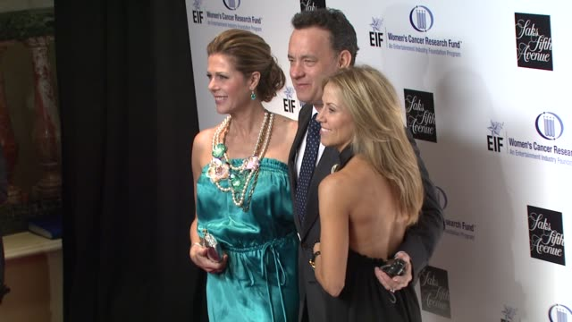 rita wilson tom hanks sheryl crow at the saks fifth avenue's 'an unforgettable evening' at los angeles ca - sheryl crow stock videos and b-roll footage