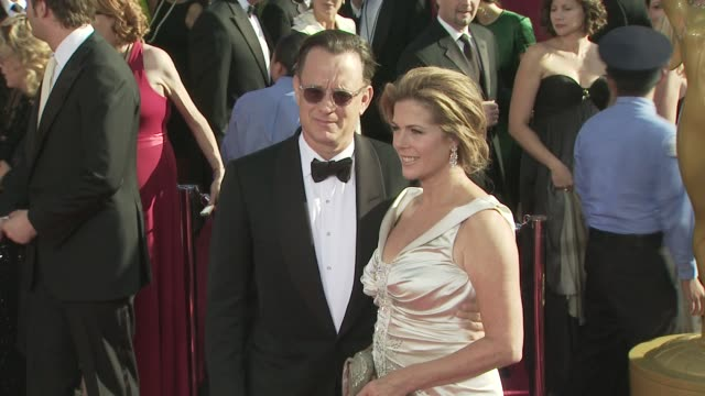 rita wilson, tom hanks, tom at the 60th primetime emmy awards at los angeles ca. - tom hanks stock videos & royalty-free footage