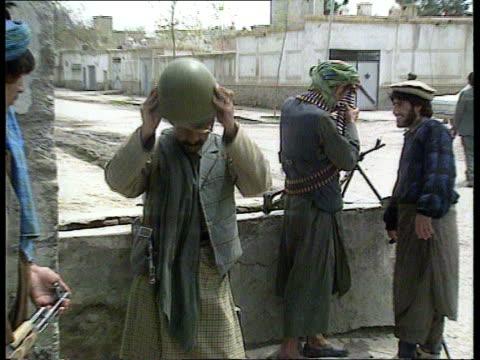 rival mujahaddin factions fight after taking control of kabul afghanistan kabul ext mujahaddin ahmed shah masoud followers mujahaddin lr as gunfire... - mortar weapon stock videos & royalty-free footage